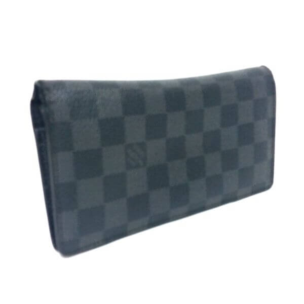 LOUIS VUITTON/ルイヴィトン 2つ折り 財布 ポルトフォイユ ブラザ N62665 ダミエ・グラフィット 側面の写真