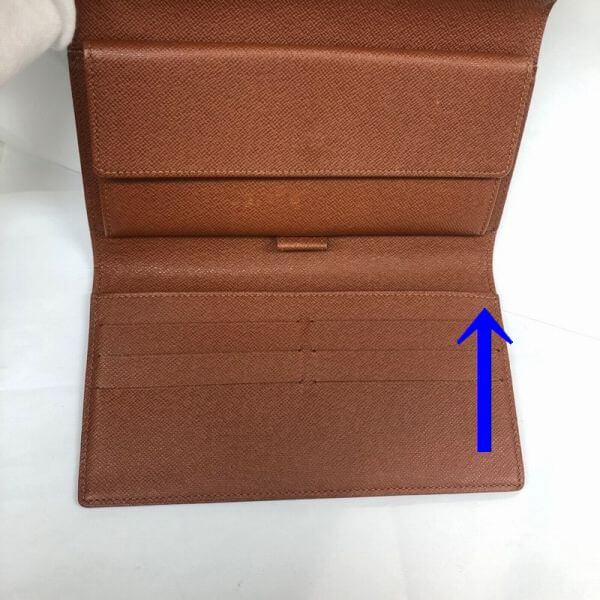 LOUIS VUITTON/ルイヴィトン 長財布 ポルトフォイユ インターナショナル M61217 モノグラム シリアルの場所(引きの画像)