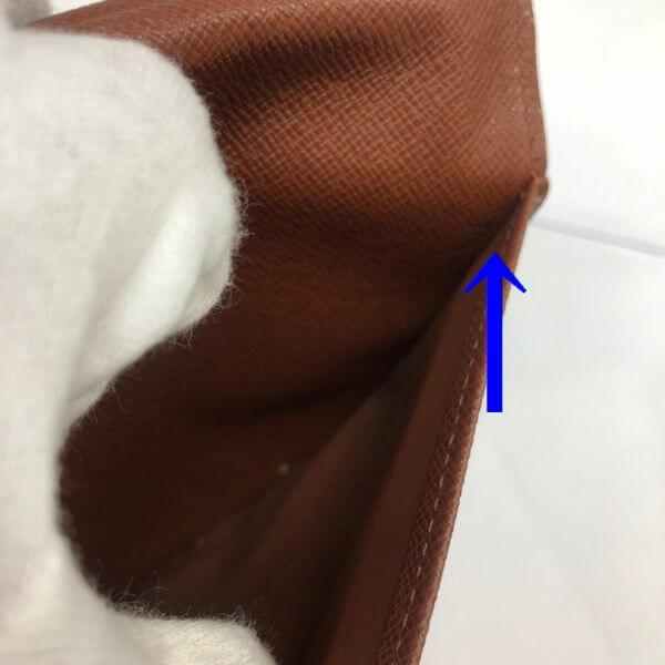 LOUIS VUITTON/ルイヴィトン 長財布 ポルトフォイユ インターナショナル M61217 モノグラム シリアルの場所(寄りの画像)