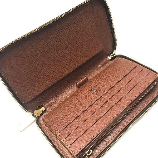 LOUIS VUITTON/ルイヴィトン ラウンドファスナー 財布 ジッピーオーガナイザー M60002 モノグラム 中身または上からの写真
