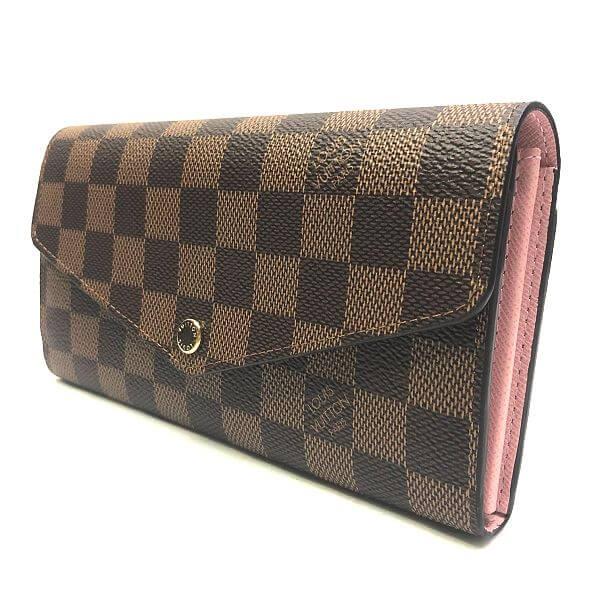 LOUIS VUITTON/ルイヴィトン 2つ折り 財布 ポルトフォイユ サラ N60114 ダミエ 裏側の写真