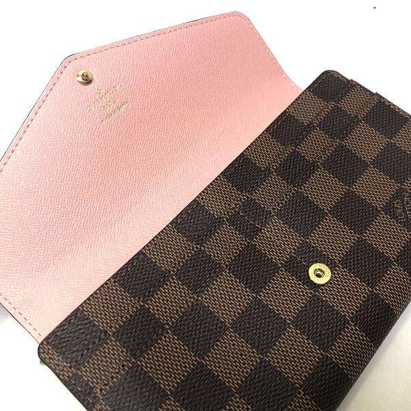 LOUIS VUITTON/ルイヴィトン 2つ折り 財布 ポルトフォイユ サラ N60114 ダミエ 中身または上からの写真
