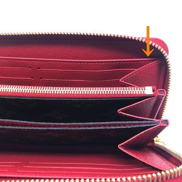 LOUIS VUITTON/ルイヴィトン ラウンドファスナー 財布 ジッピー ウォレット レティーロ M61854 モノグラム シリアルの場所(引きの画像)