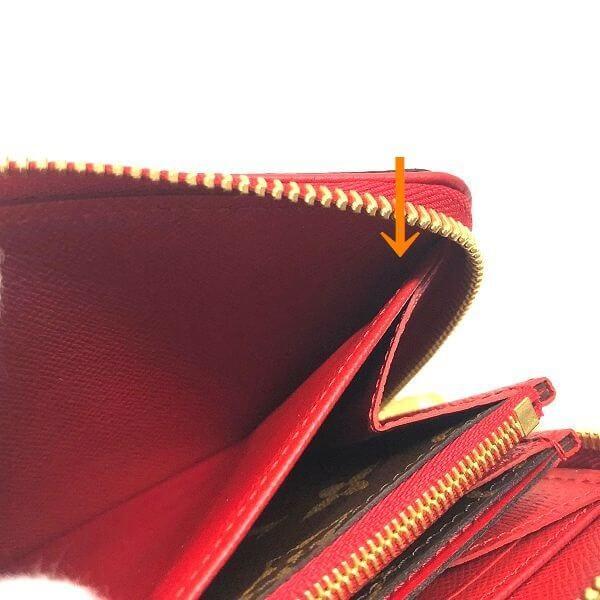 LOUIS VUITTON/ルイヴィトン ラウンドファスナー 財布 ジッピー ウォレット レティーロ M61854 モノグラム シリアルの場所(寄りの画像)