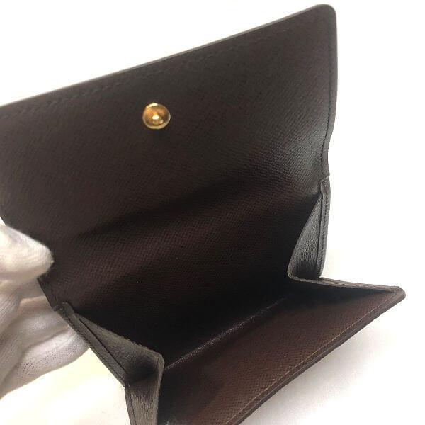 LOUIS VUITTON/ルイヴィトン ホック式 財布 ポルトフォイユ エリーズ N61652 ダミエ エベヌ 中身または上からの写真