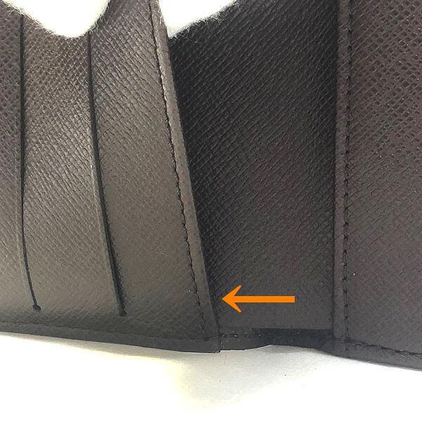 LOUIS VUITTON/ルイヴィトン ホック式 財布 ポルトフォイユ エリーズ N61652 ダミエ エベヌ シリアルの場所(寄りの画像)