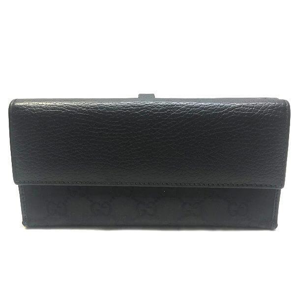 GUCCI/グッチ 2つ折り 財布 クリップ金具長財布 --- GG 側面の写真