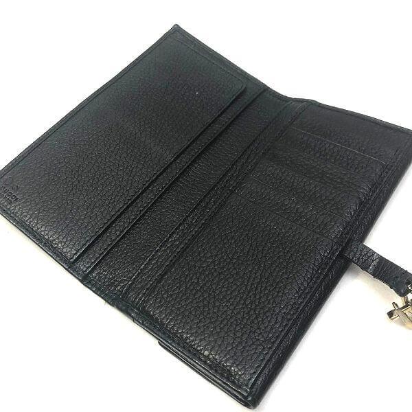 GUCCI/グッチ 2つ折り 財布 クリップ金具長財布 --- GG 裏側の写真