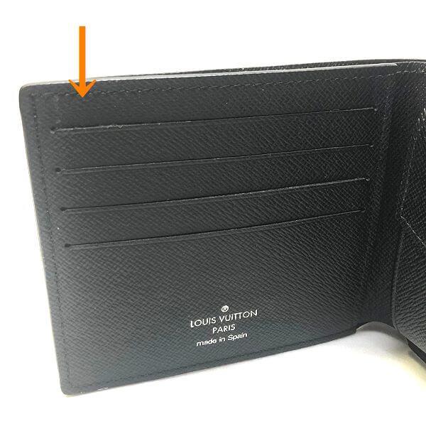 LOUIS VUITTON/ルイヴィトン 2つ折り 財布 マルコ N63336 ダミエグラフィット シリアルの場所(引きの画像)