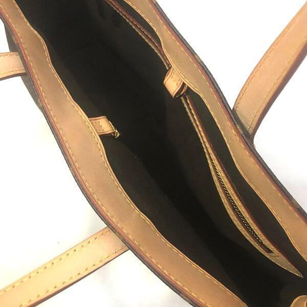 LOUIS VUITTON/ルイヴィトン ハンドトートバッグ ウィルシャーPM M45643 モノグラム 中身または上からの写真