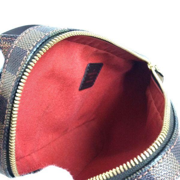 LOUIS VUITTON/ルイヴィトン ウェストバッグ ジェロニモス N51994 ダミエ 中身または上からの写真
