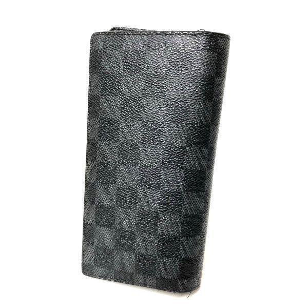 LOUIS VUITTON/ルイヴィトン 2つ折り 財布 ポルトフォイユ ブラザ N62665 ダミエ・グラフィット 裏側の写真