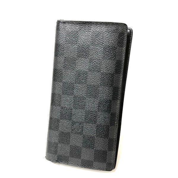 LOUIS VUITTON/ルイヴィトン 2つ折り 財布 ポルトフォイユ ブラザ N62665 ダミエ・グラフィット 全体の写真