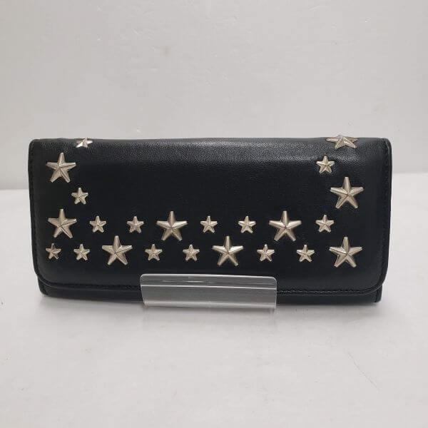 JIMMY CHOO/ジミーチュウ 2つ折り 財布 スタッズ 二つ折り 長財布 - - 側面の写真