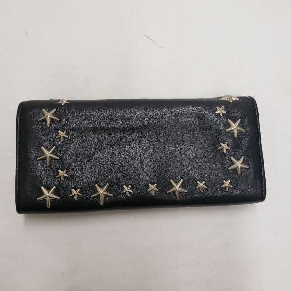 JIMMY CHOO/ジミーチュウ 2つ折り 財布 スタッズ 二つ折り 長財布 - - 裏側の写真