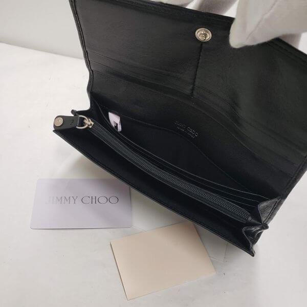 JIMMY CHOO/ジミーチュウ 2つ折り 財布 スタッズ 二つ折り 長財布 - - 中身または上からの写真