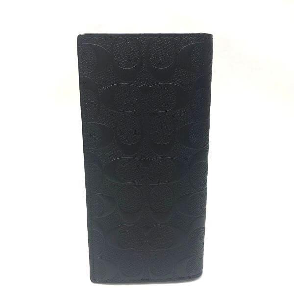 COACH/コーチ 2つ折り 財布 二つ折り長財布 F75365 シグネチャ 側面の写真