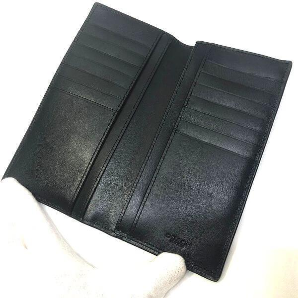 COACH/コーチ 2つ折り 財布 二つ折り長財布 F75365 シグネチャ 中身または上からの写真