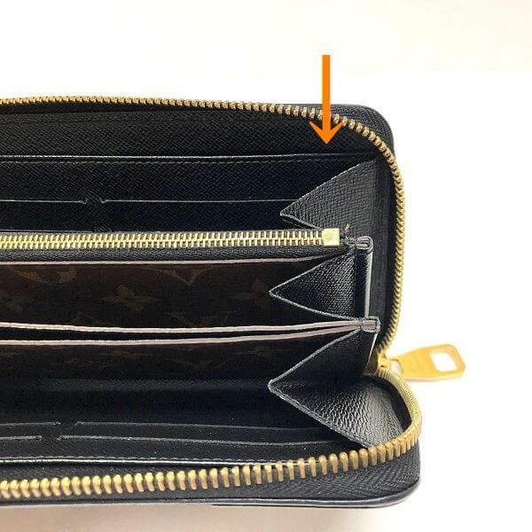 LOUIS VUITTON/ルイヴィトン ラウンドファスナー 財布 ジッピーウォレット・レティーロ M61855 モノグラム シリアルの場所(引きの画像)