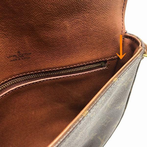 LOUIS VUITTON/ルイヴィトン 袈裟がけショルダーバッグ シャンティMM  M51233 モノグラム シリアルの場所(引きの画像)
