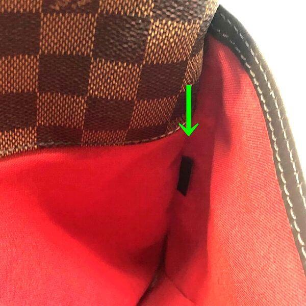 LOUIS VUITTON/ルイヴィトン 袈裟がけショルダーバッグ ブルームズベリPM N42251 ダミエ シリアルの場所(寄りの画像)