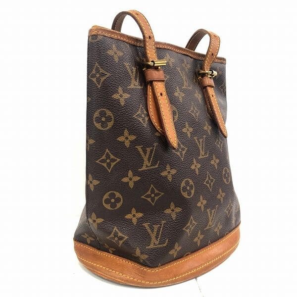 LOUIS VUITTON/ルイヴィトン ハンドトートバッグ パケットPM M42238 モノグラム 側面の写真