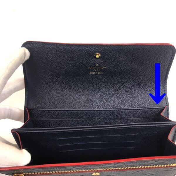 LOUIS VUITTON/ルイヴィトン ラウンドファスナー 財布 ポルトフォイユ ボンヌフ CA5105 モノグラム アンプラント シリアルの場所(引きの画像)