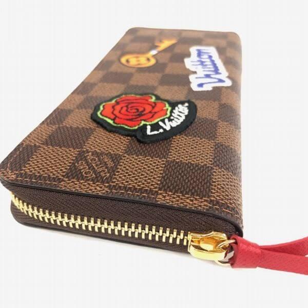 LOUIS VUITTON/ルイヴィトン ラウンドファスナー 財布 ポルトフォイユ クレマンス N60147 ダミエ 裏側の写真