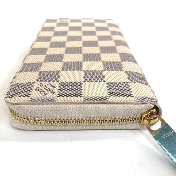 LOUIS VUITTON/ルイヴィトン ラウンドファスナー 財布 ジッピーウォレット N60019 ダミエ 裏側の写真