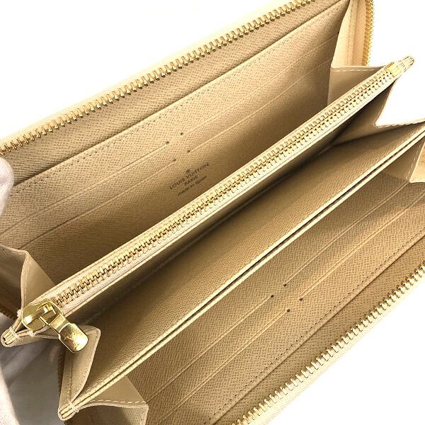 LOUIS VUITTON/ルイヴィトン ラウンドファスナー 財布 ジッピーウォレット N60019 ダミエ 中身または上からの写真