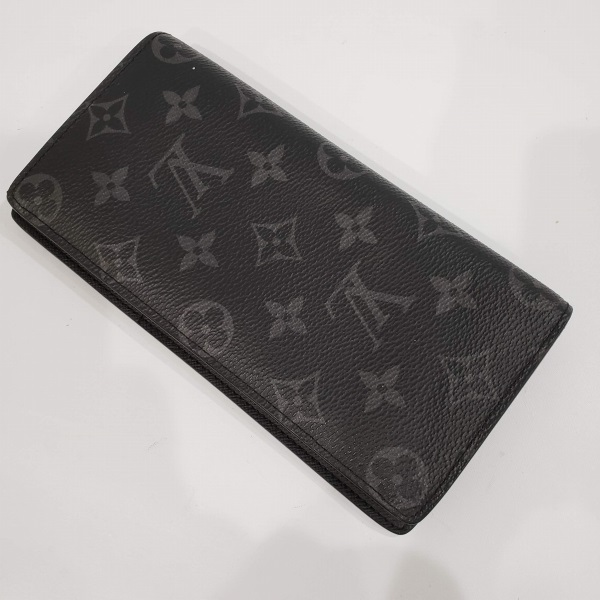 LOUIS VUITTON/ルイヴィトン 2つ折り 財布 ポルトフォイユ・ブラザ M61697 モノグラム エクリプス 側面の写真
