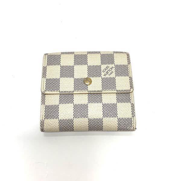 LOUIS VUITTON/ルイヴィトン 2つ折り 財布 ポルトフォイユ・エリーズ N61733 ダミエ 全体の写真