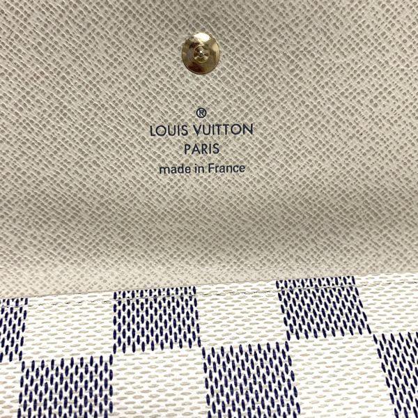 LOUIS VUITTON/ルイヴィトン 2つ折り 財布 ポルトフォイユ・エリーズ N61733 ダミエ 中身または上からの写真