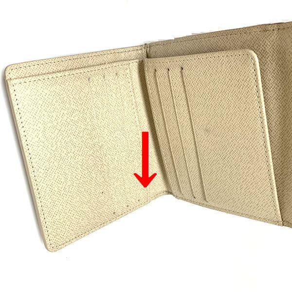 LOUIS VUITTON/ルイヴィトン 2つ折り 財布 ポルトフォイユ・エリーズ N61733 ダミエ シリアルの場所(引きの画像)