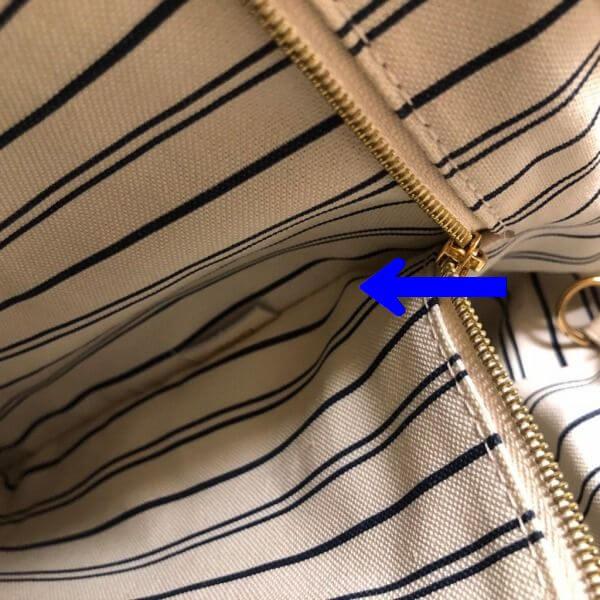 LOUIS VUITTON/ルイヴィトン ショルダートート アーツィーMM M93449 モノグラム シリアルの場所(寄りの画像)