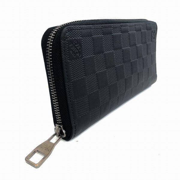 LOUIS VUITTON/ルイヴィトン ラウンドファスナー 財布 ジッピーウォレット ヴェルテイカル N63548 ダミエ アンフィニ 側面の写真