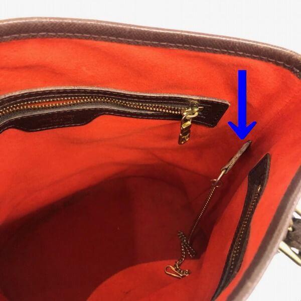LOUIS VUITTON/ルイヴィトン ハンドトートバッグ マレ N42240 ダミエ シリアルの場所(引きの画像)