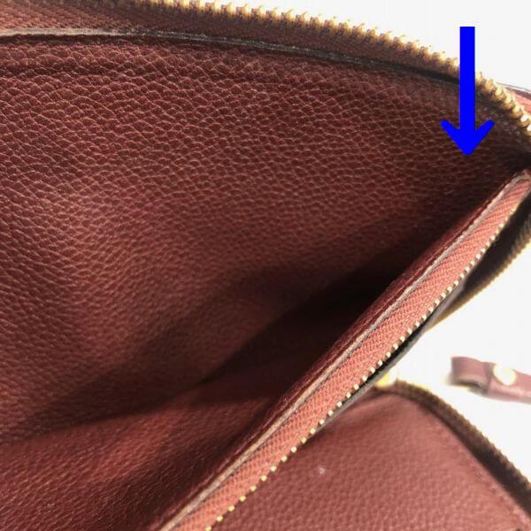 LOUIS VUITTON/ルイヴィトン ラウンドファスナー 財布 ポルトフォイユ・スクレット ロン M60298 モノグラム・アンプラント シリアルの場所(寄りの画像)
