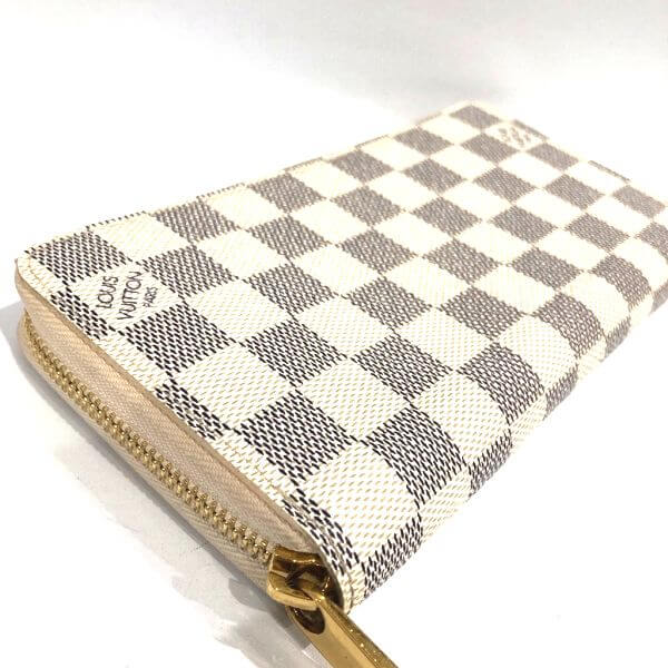 LOUIS VUITTON/ルイヴィトン ラウンドファスナー 財布 ジッピーウォレット N41660 ダミエ 側面の写真
