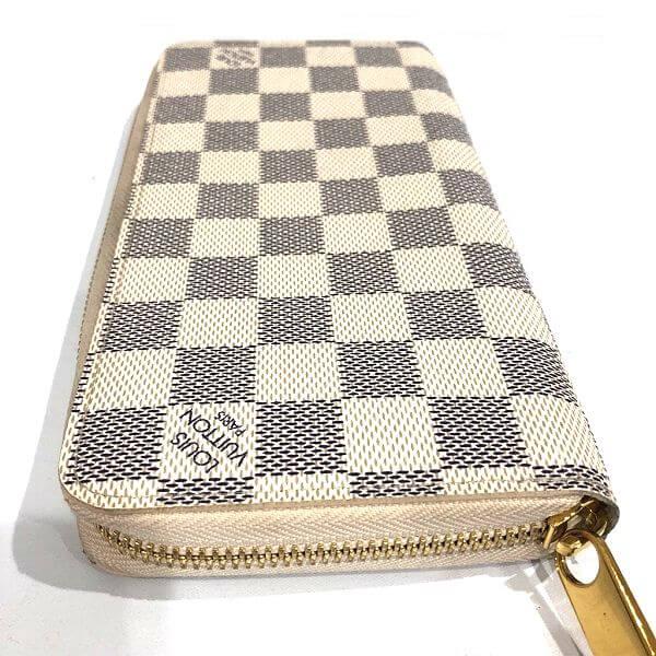LOUIS VUITTON/ルイヴィトン ラウンドファスナー 財布 ジッピーウォレット N41660 ダミエ 裏側の写真