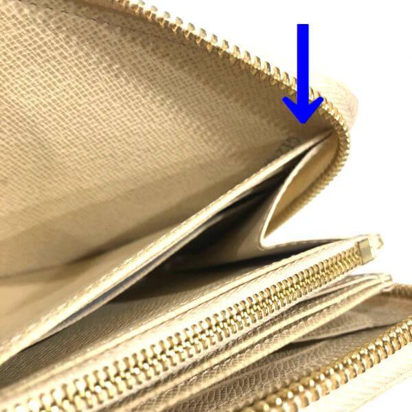 LOUIS VUITTON/ルイヴィトン ラウンドファスナー 財布 ジッピーウォレット N41660 ダミエ シリアルの場所(寄りの画像)
