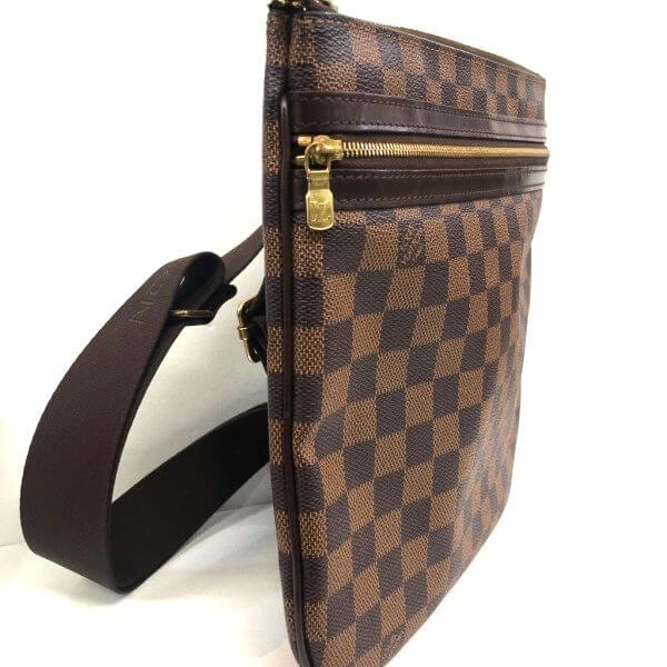 LOUIS VUITTON/ルイヴィトン ショルダーバッグ ポシェット・ボスフォール N51111 ダミエ 側面の写真