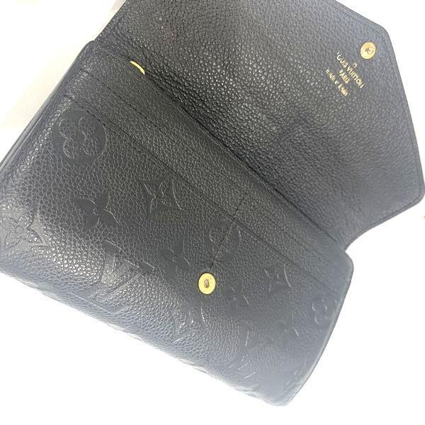 LOUIS VUITTON/ルイヴィトン 2つ折り 財布 ポルトフォイユ・サラ M61182 モノグラム・アンプラント 裏側の写真