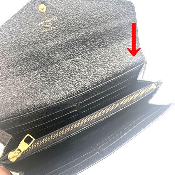 LOUIS VUITTON/ルイヴィトン 2つ折り 財布 ポルトフォイユ・サラ M61182 モノグラム・アンプラント シリアルの場所(引きの画像)