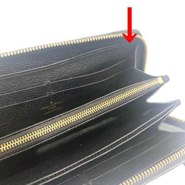 LOUIS VUITTON/ルイヴィトン ラウンドファスナー 財布 ジッピーウォレット M60571 モノグラム・アンプラント シリアルの場所(引きの画像)