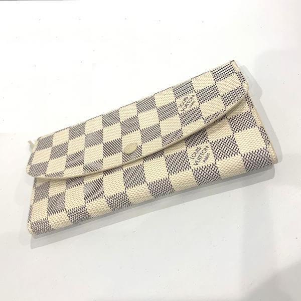 LOUIS VUITTON/ルイヴィトン ホック式 財布 ポルトフォイユ・エミリー N63546 ダミエ 裏側の写真