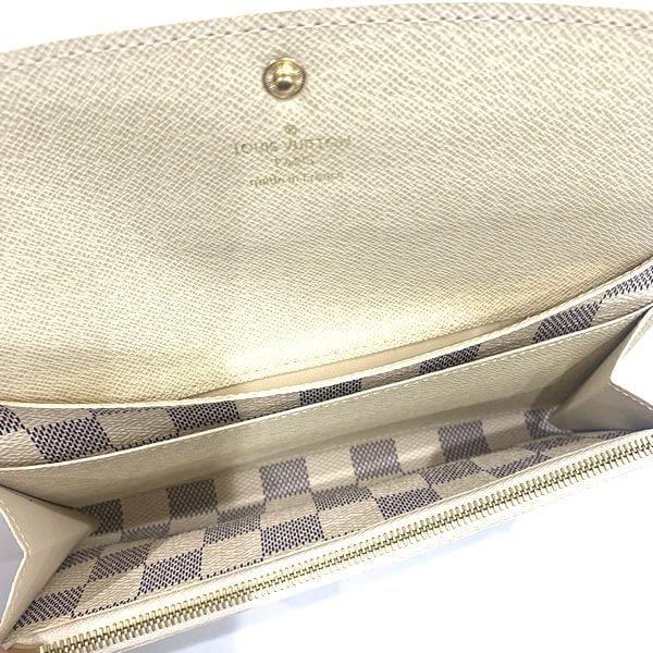 LOUIS VUITTON/ルイヴィトン ホック式 財布 ポルトフォイユ・エミリー N63546 ダミエ 中身または上からの写真