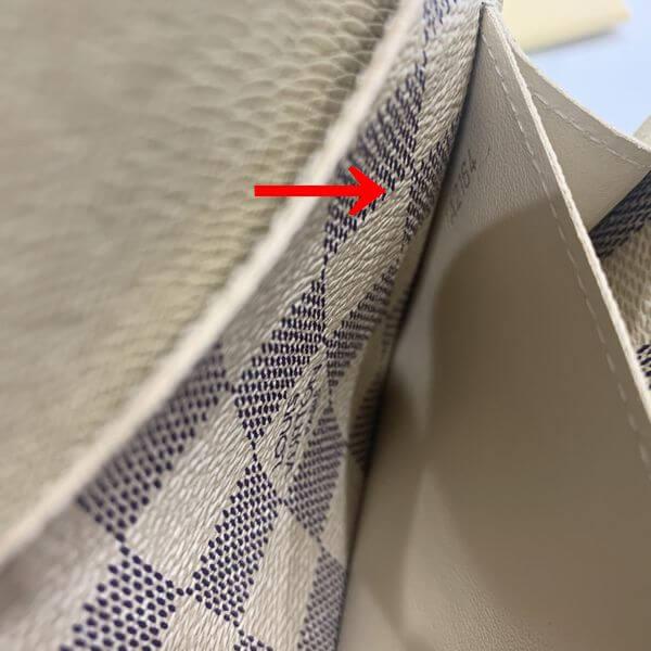 LOUIS VUITTON/ルイヴィトン ホック式 財布 ポルトフォイユ・エミリー N63546 ダミエ シリアルの場所(寄りの画像)
