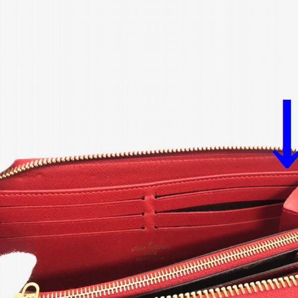 LOUIS VUITTON/ルイヴィトン ラウンドファスナー 財布 レティーロ M61187 モノグラム シリアルの場所(引きの画像)