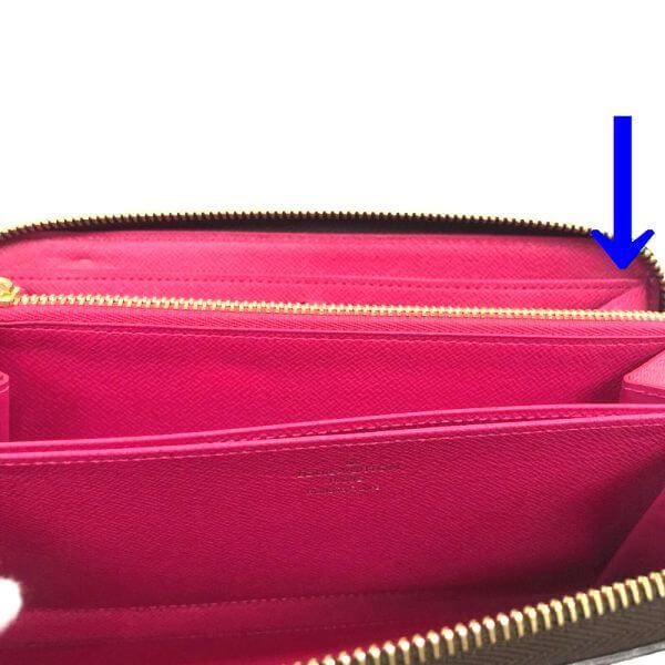 LOUIS VUITTON/ルイヴィトン ラウンドファスナー 財布 ジッピーウォレット ラブロック M64116 モノグラム シリアルの場所(引きの画像)